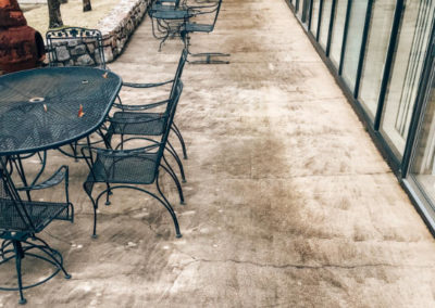 Residential Concrete Cleaning Before